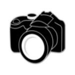 Camera - Enamel Charm