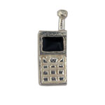 Cell Phone - Silver Charm
