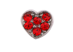 Heart Red - Silver & CZ Charm