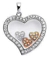 HEART TRI COLOR - Premade