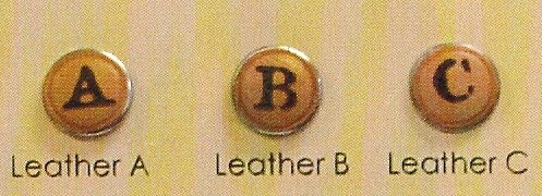 Leather Initials - Buttoonz