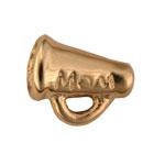 Megaphone Mom - Gold Charm