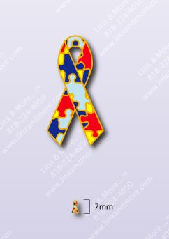 Autism Ribbon - Enamel Charm
