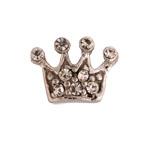 Clear Crown - Silver & CZ Charm