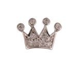 Large Crown - Silver & CZ Charm