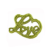 Love Script - Gold Charm