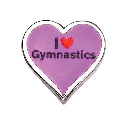 I Love Gymnastics - Enamel Charm